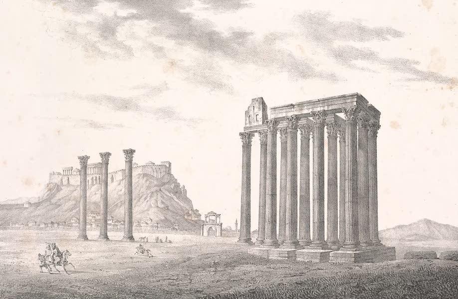 Voyage dans le Levant - Ruines du temple de Jupiter Olympien a Athenes (1819)