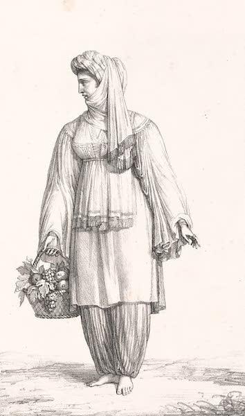 Voyage dans le Levant - Femme de l'ile de Santorin (1819)