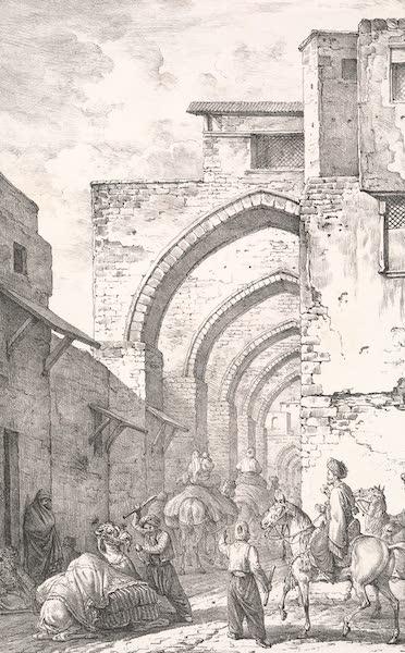 Voyage dans le Levant - Entree de la rue du bazar a Saint-Jean-d'Acre (1819)
