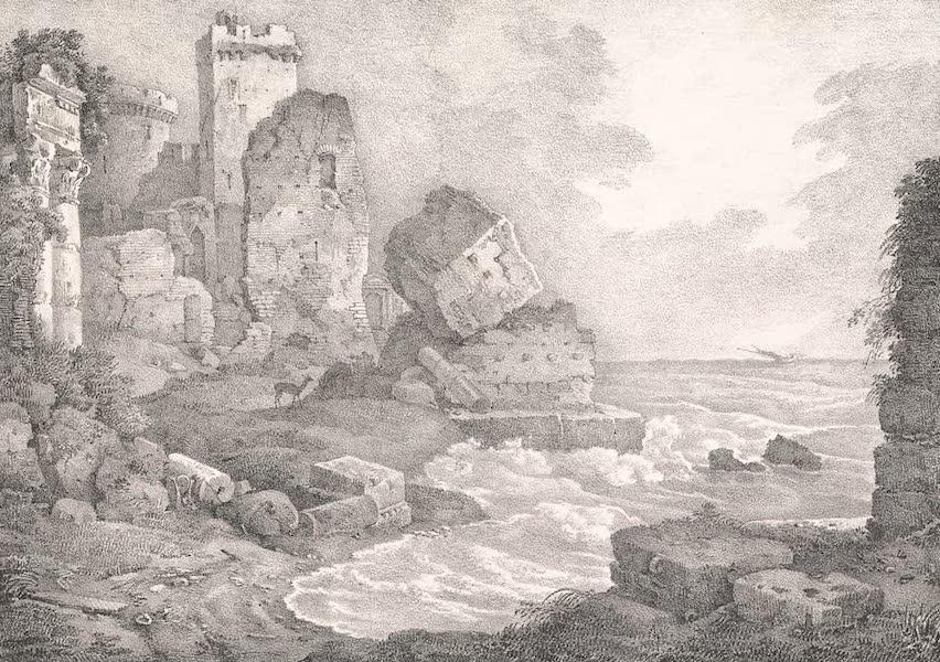 Voyage dans le Levant - Ruines du port de Cesaree en Syrie (1819)