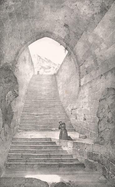 Voyage dans le Levant - Interieur de la piscine de Siloe a Jerusalem (1819)