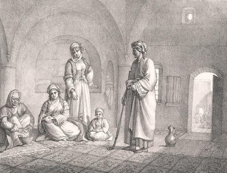 Voyage dans le Levant - Interieur d'une famille chretienne a Jerusalem (1819)