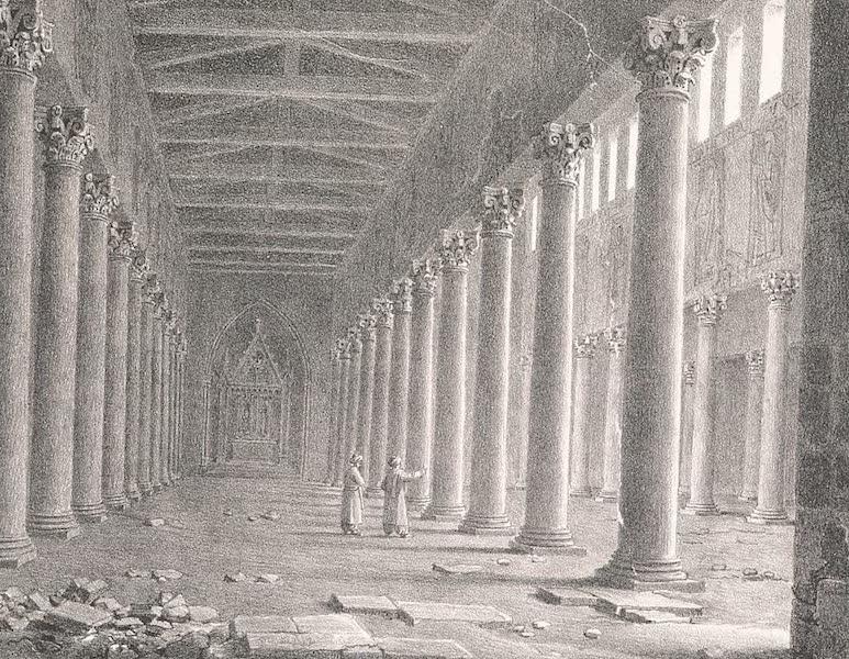 Voyage dans le Levant - Interieur de l'eglise de Bethleem (1819)