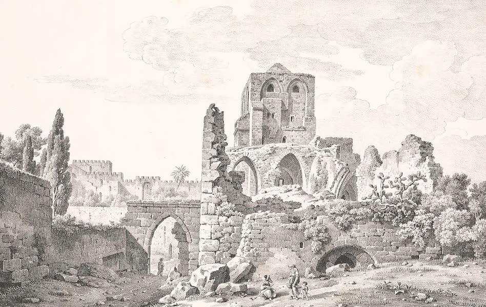 Voyage dans le Levant - Entree de l'eglise du Saint-Sepulcre (1819)