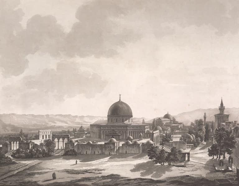 Voyage dans le Levant - Vue de la mosquee d'el-Haram, prise hors des murs de Jerusalem (1819)