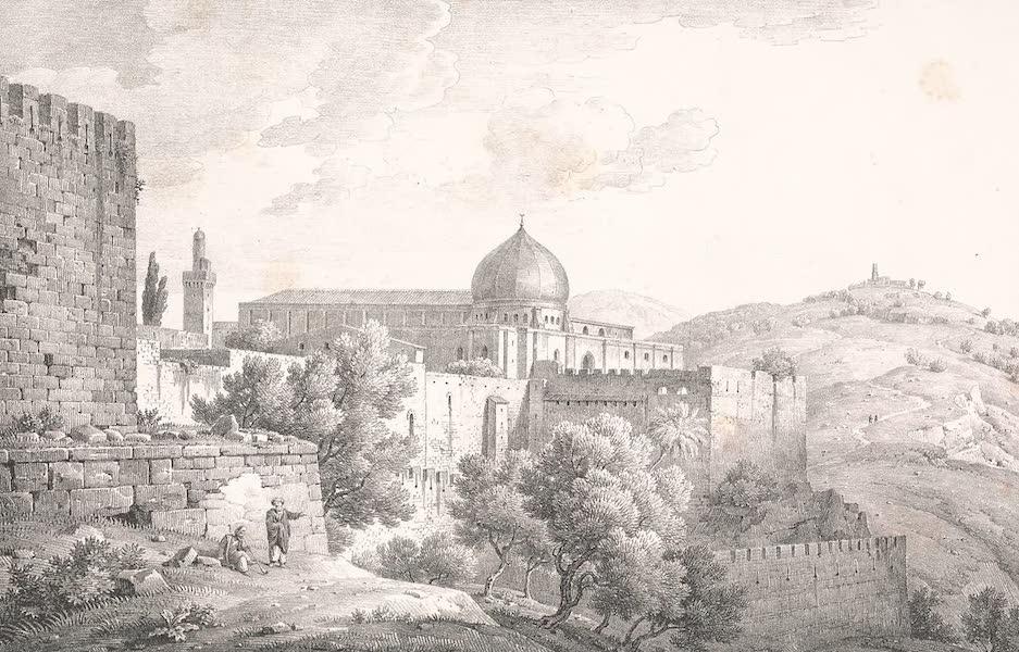 Voyage dans le Levant - Tombeaux dans la vallee de Josaphat (1819)