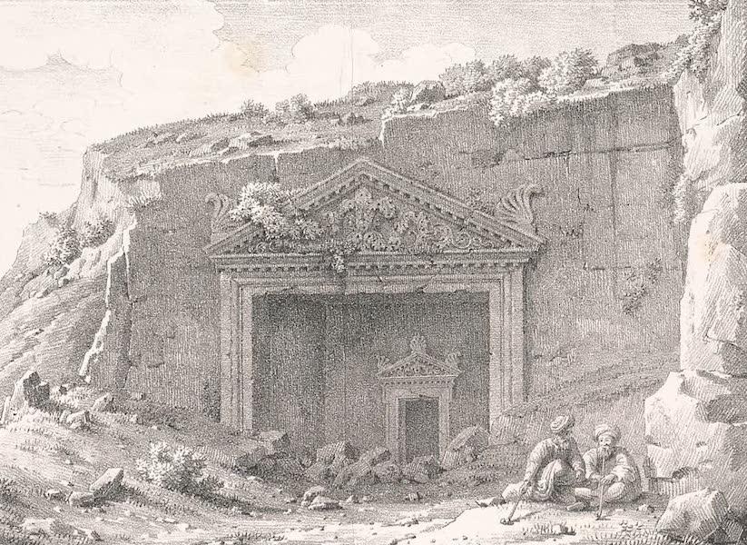 Voyage dans le Levant - Entree du sepulcre des Rois, a Jerusalem (1819)