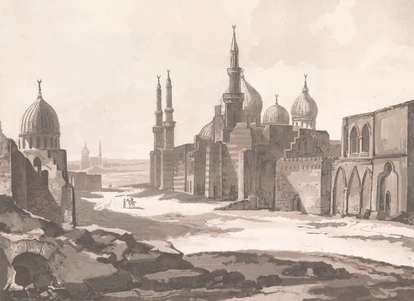 Voyage dans le Levant - Mosquees des tombeaux des sultans baharites pres du Caire (1819)
