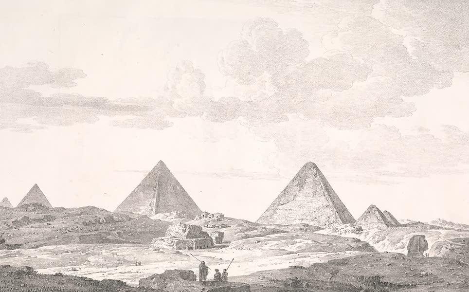 Voyage dans le Levant - Vue generale des pyramides de Gyzeh (1819)