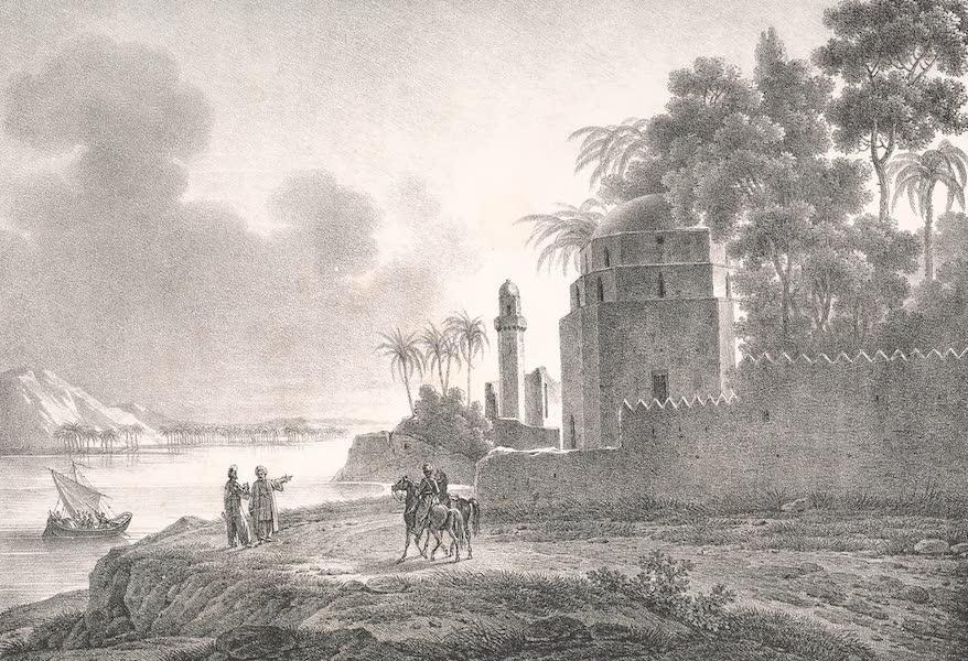 Voyage dans le Levant - Vue de Minyeh sur les bords du Nil, dans la haute Egypt (1819)