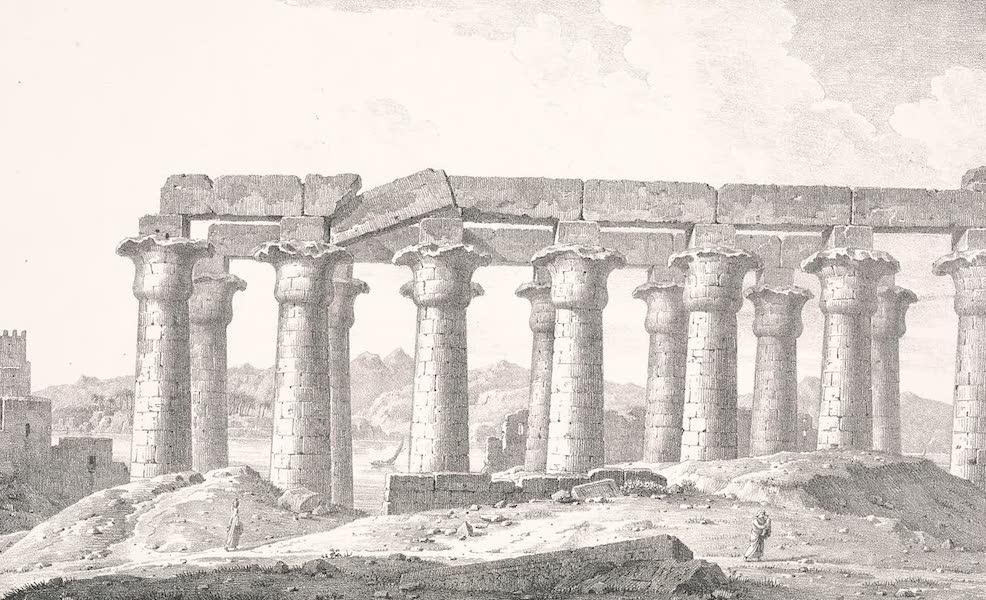 Voyage dans le Levant - Portique de Louqsor a Thebes, haute Egypte (1819)