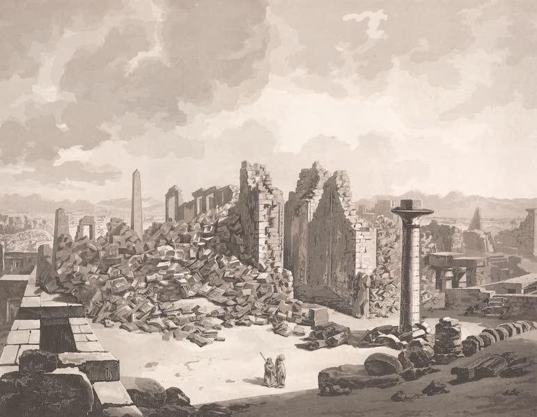 Voyage dans le Levant - Ruines du temple de Karnak a Thebes, haute Egypte (1819)