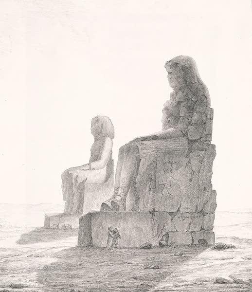 Voyage dans le Levant - Colosses de la plaine de Qournah, a Thebes, haute Egypte (1819)
