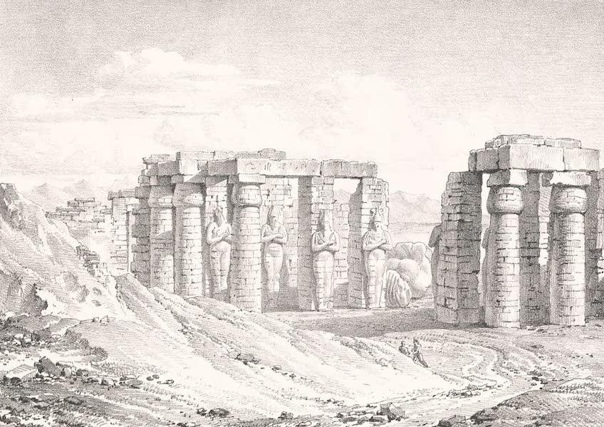 Voyage dans le Levant - Ruines du Memnonium a Qournah, Thebes (1819)