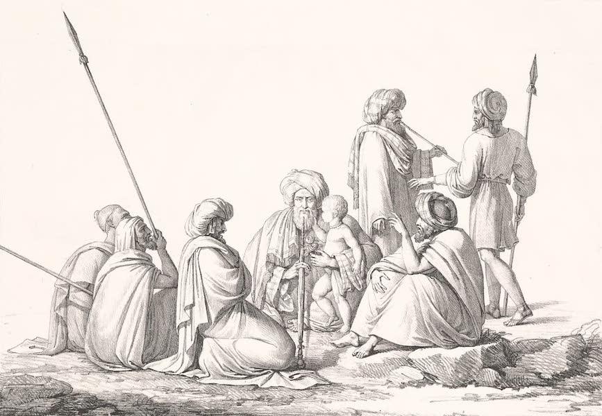 Voyage dans le Levant - Reunion d'Arabes autour du cheykh (1819)