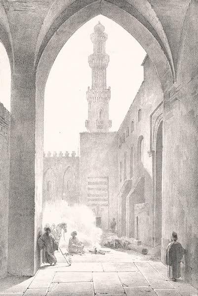 Voyage dans le Levant - Cour interieure de la mosquee d'el-Affiffi au Caire (1819)