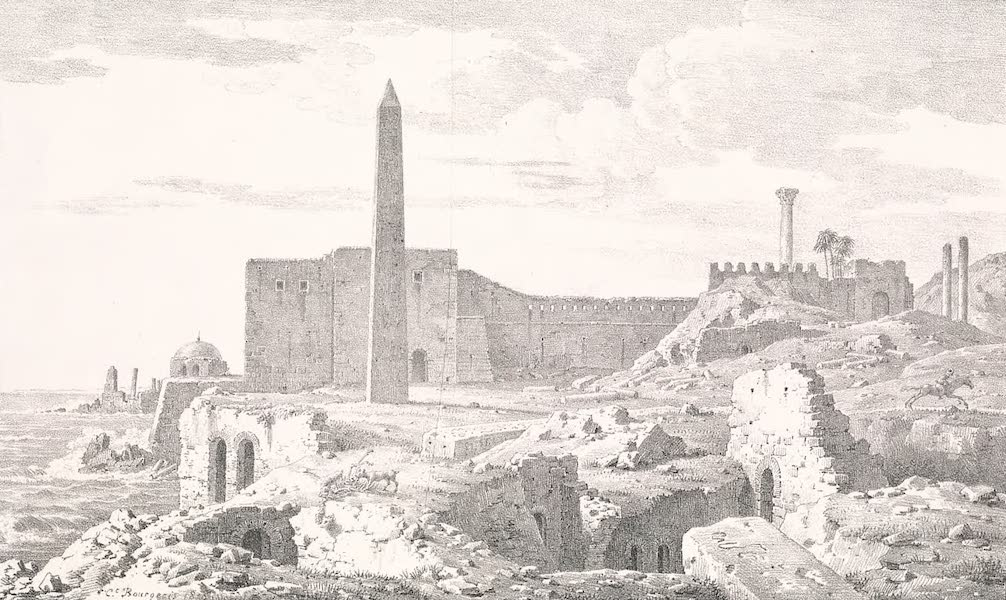 Voyage dans le Levant - Obelisques de Cleopatre a Alexandrie (1819)