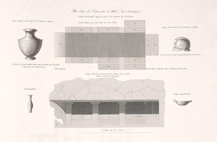 Voyage dans le Levant - Plan d'une des catacombes (1819)