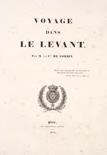 Voyage dans le Levant