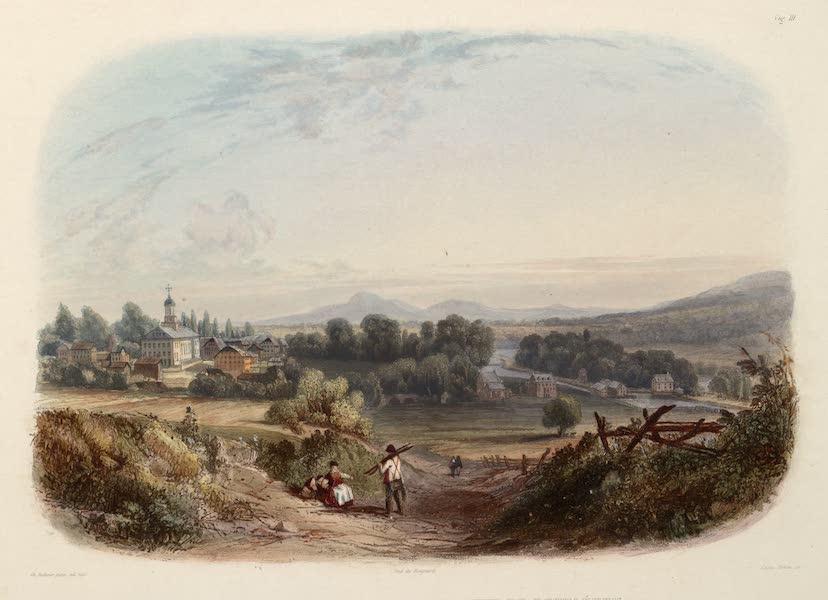 Voyage dans l'Interieur de l'Amerique du Nord Atlas - Ansicht von Bethlehem (Pennsylvanien). / Vue de Bethléhem (Pennsylvanie). / View of Bethlehem (Pennsylvania). (1840)