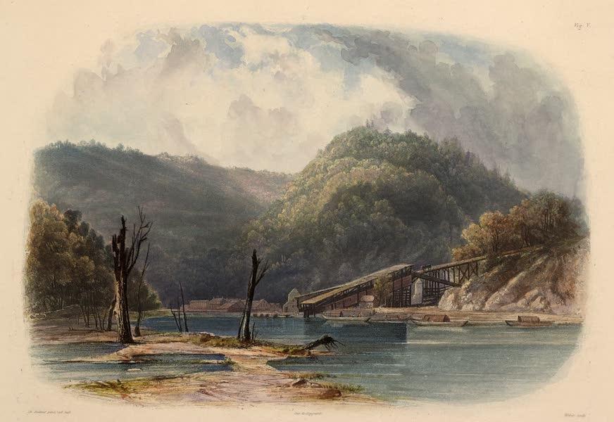 Voyage dans l'Interieur de l'Amerique du Nord Atlas - Ansicht von Mauch-Chunk (Pennsylvanien). / Vue de Mauch-Chunk (Pennsylvanie). / View of Mauch-Chunk (Pennsylvania). (1840)