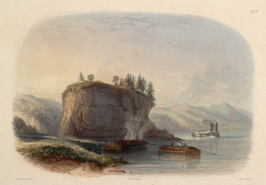 Voyage dans l'Interieur de l'Amerique du Nord Atlas - Tower-Rock, Ansicht vom Missisippi. / Tower-Rock, vue sur le Missisippi. / Tower-Rock, view on the Missisippi. (1840)