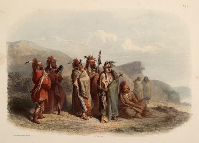 Voyage dans l'Interieur de l'Amerique du Nord Atlas - Saki und Musquake Indianer. / Indiens Sâkis et Renards. / Saukie and Fox Indianians. (1840)
