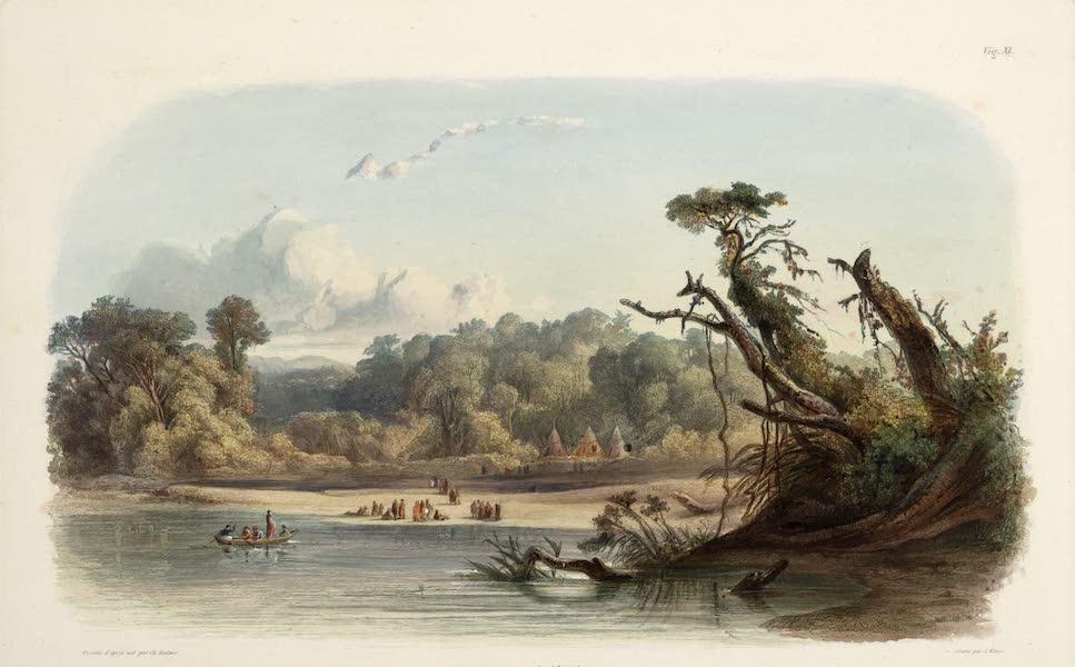 Voyage dans l'Interieur de l'Amerique du Nord Atlas - Campirende Punka-Indianer am ufer des Msisouri. / Indiens Ponkas Campés sur les bords du Missouri. / Punka Indians encamped on the banks of the Missouri. (1840)