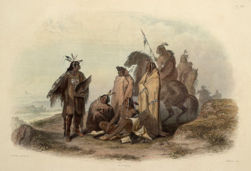 Voyage dans l'Interieur de l'Amerique du Nord Atlas - Crow Indianer. / Indiens Corbeaux. / Crow Indians. (1840)