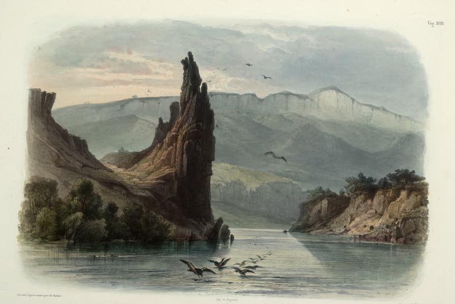 Voyage dans l'Interieur de l'Amerique du Nord Atlas - Felsen genannt die Citadelle am oberen Missouri. / Rocher dit la Citadelle sur lehaut Missouri. / The Citadel-rock on the upper Missouri. (1840)