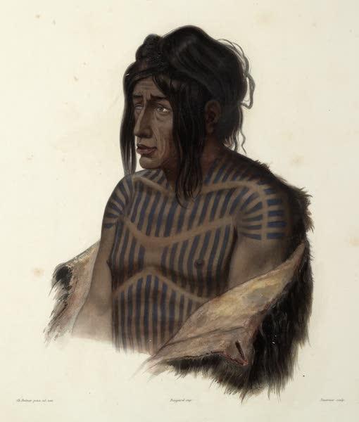 Voyage dans l'Interieur de l'Amerique du Nord Atlas - Mähsette-Kuiuab, Chef der Crih Indianer. / Mähsette-Kuiuab, Chef des Indiens Crih. / Mähsette-Kuiuab, Chief of the Crec-Indians. (1840)