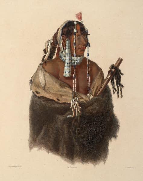 Voyage dans l'Interieur de l'Amerique du Nord Atlas - Mändeh-Páhchu, Junger Mandan Indianer. / Mändeh-Páhchu, Jeune Indien Mandan. / A young Mandan Indian. (1840)