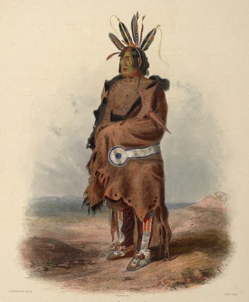 Voyage dans l'Interieur de l'Amerique du Nord Atlas - Pachtüwa-Chtä, Arrikkara Krieger. / Pachtüwa-Chtä, Geurrier Arrikkara. / Pachtüwa-Chtä, Arrikkara Warrior. (1840)