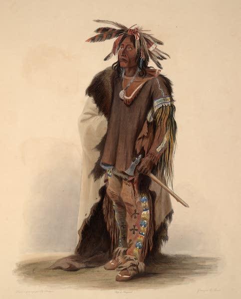 Voyage dans l'Interieur de l'Amerique du Nord Atlas - Wahk-Tä-Ge-Li, Dacota-Krieger. / Wahk-Tä-Ge-Li, Guerrier Dacota. / Wahk-Tä-Ge-Li, a Sioux Warrior. (1840)