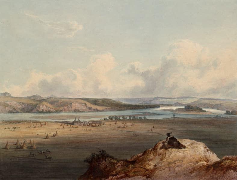 Voyage dans l'Interieur de l'Amerique du Nord Atlas - Fort Pierre am Missouri. / Fort Pierre sur le Missouri. / Fort Pierre on the Missouri. (1840)