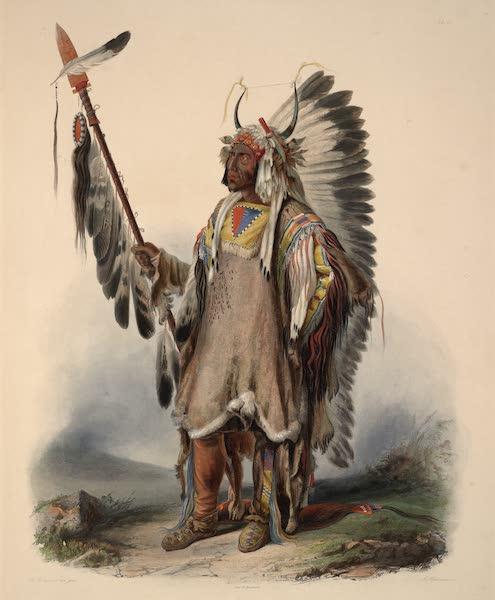 Voyage dans l'Interieur de l'Amerique du Nord Atlas - Mató-Tope, Mandan Chef. / Mató-Tope, chef Mandan. / Mató-Tope, a Mandan chief. (1840)