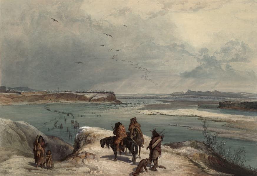 Voyage dans l'Interieur de l'Amerique du Nord Atlas - Fort Clark am Missouri (Februar 1834). / Fort Clark sur le Missouri (Fevrier 1834). / Fort Clark on the Missouri (February 1834). (1840)
