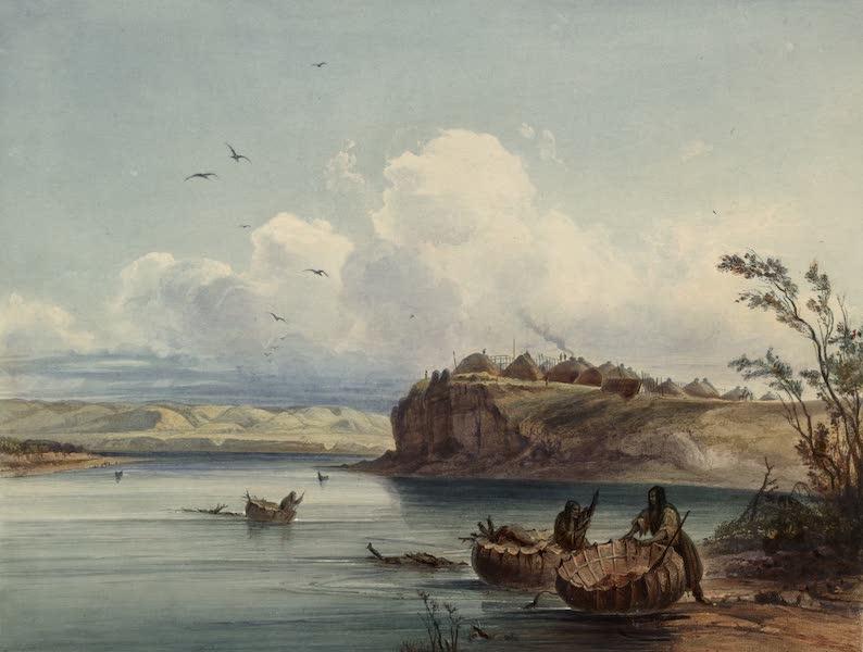 Voyage dans l'Interieur de l'Amerique du Nord Atlas - Mih-Tutta-Hangkusch, Mandan Dorf. / Mih-Tutta-Hangkusch, village Mandan. / Mih-Tutta-Hangjusch, a Mandan village. (1840)