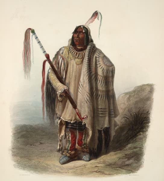 Voyage dans l'Interieur de l'Amerique du Nord Atlas - Pehriska-Ruhpa, ein Mönnitarri-Indianer. / Pehriska-Ruhpa, Indien-Moennitarre ou gros Ventre. / Pehriska-Ruhpa, a minatarre or big bellied Indian (1840)
