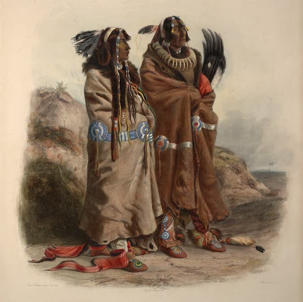 Voyage dans l'Interieur de l'Amerique du Nord Atlas - Sih-Chida & Mahchsi-Karahde, Mandan Indianer. / Sih-Chida & Mahchsi-Karahde, Indiens Mandan. / Sih-Chida & Mahchsi-Karahde, Mandan Indians. (1840)