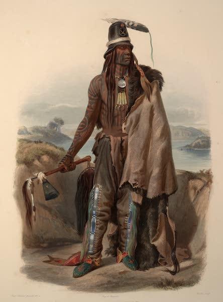 Voyage dans l'Interieur de l'Amerique du Nord Atlas - Abdih-Hiddisch, Mönnitarri -Chef. / Abdih-Hiddisch, Chef Meunitarri. / Abdih-HIddisch, a Minatarre Chief. (1840)