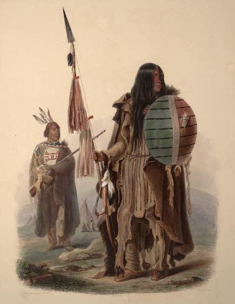Voyage dans l'Interieur de l'Amerique du Nord Atlas - Asiniboin Indianer. / Indiens Assiniboins. / Assiniboin Indians. (1840)