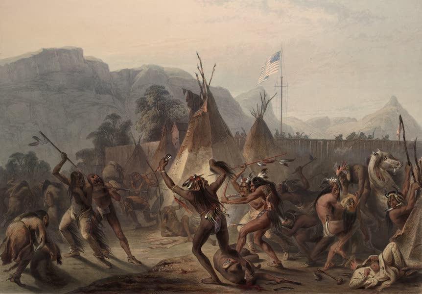 Voyage dans l'Interieur de l'Amerique du Nord Atlas - Fort Mackenzie den 28-ten August 1833. / Fort Mackenzie le 28 Aout 1833. / Fort Mackenzie, August 28th 1833. (1840)