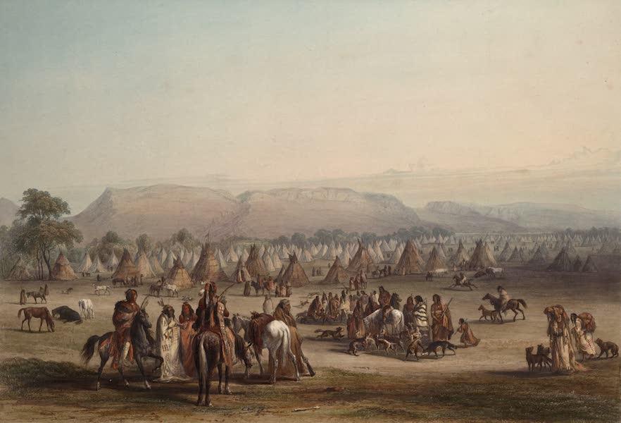 Voyage dans l'Interieur de l'Amerique du Nord Atlas - Lager der Piekann Indianer. / Camp des Indiens Piekann. / Encampment of the Piekann Indians. (1840)