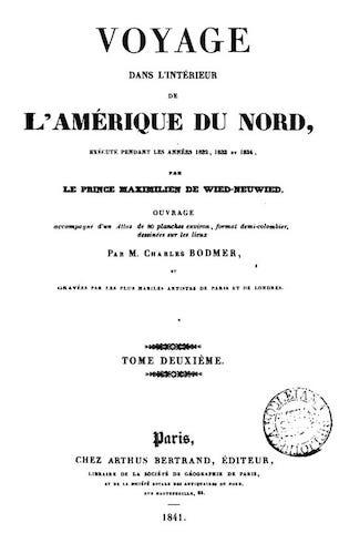 French - Voyage dans l'Interieur de l'Amerique du Nord Vol. 2