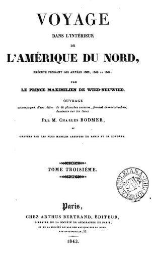 Voyage dans l'Interieur de l'Amerique du Nord Vol. 3 (1843)