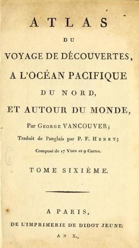 French - Voyage de Decouvertes, a l'Ocean Pacifique du Nord Atlas