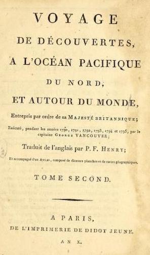 French - Voyage de Decouvertes, a l'Ocean Pacifique du Nord Vol. 2