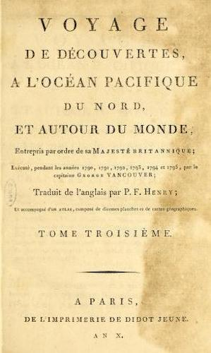 French - Voyage de Decouvertes, a l'Ocean Pacifique du Nord Vol. 3