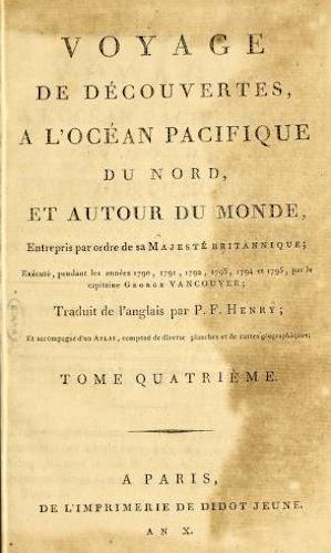 French - Voyage de Decouvertes, a l'Ocean Pacifique du Nord Vol. 4